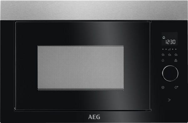 schwarz-silberne Mikrowelle von AEG