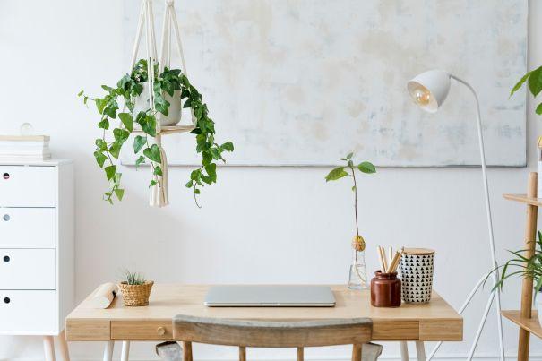 Boho Stil- Dekoideen Schreibtisch