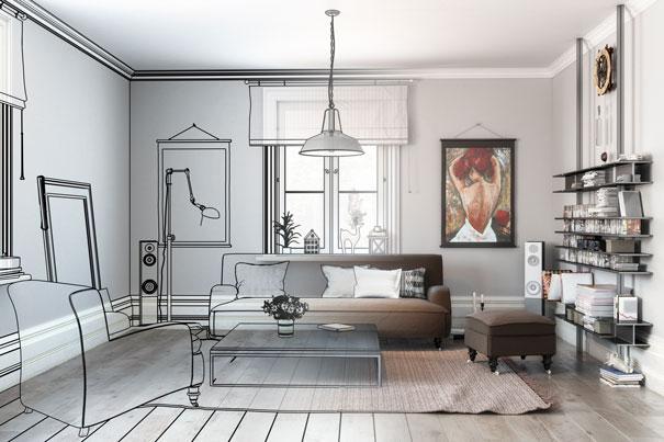 Einrichtungskonzept Wohnzimmer