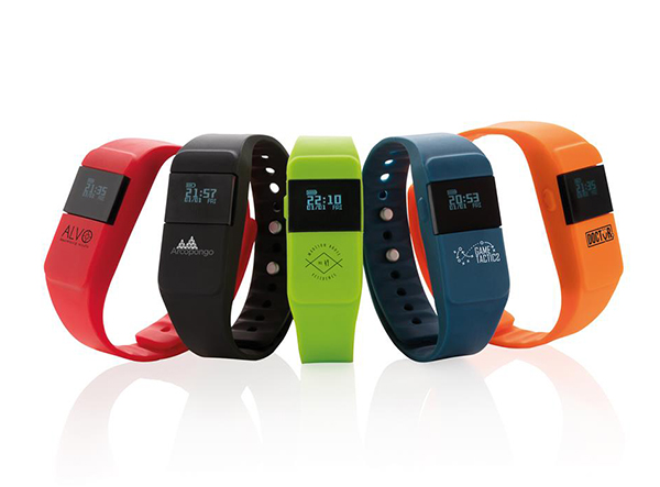 Fitnesstracker in verschiedenen Farben als idealer Trendartikel