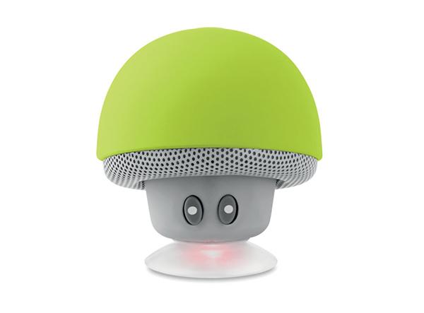 Grüner pilzförmiger Lautsprecher mit Saugnapf
