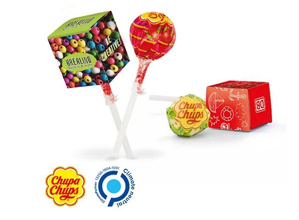 Rechteckige Chupa Chups Lollybox als Werbeartikel