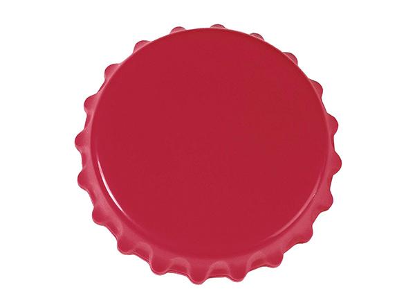 Roter Magnet in Form eines Kronkorkens
