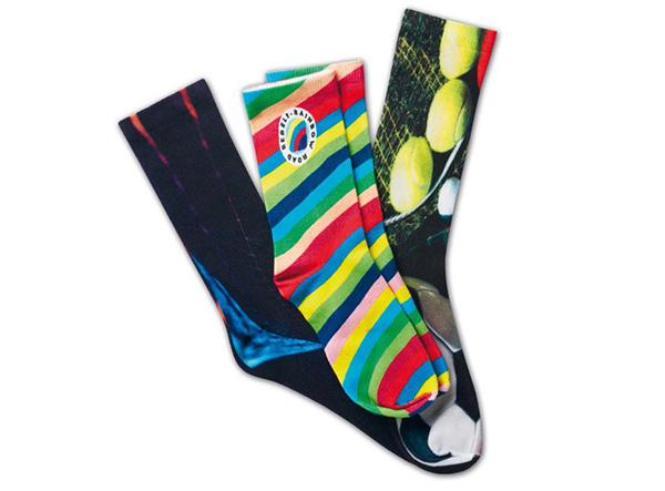 Bunte Socken als kreatives Merchandise