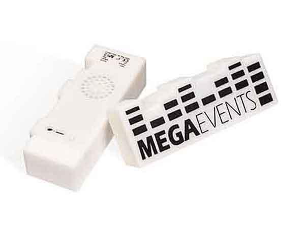 Bluetooth Lautsprecher mit individuell gestalteter Gummiummantelung