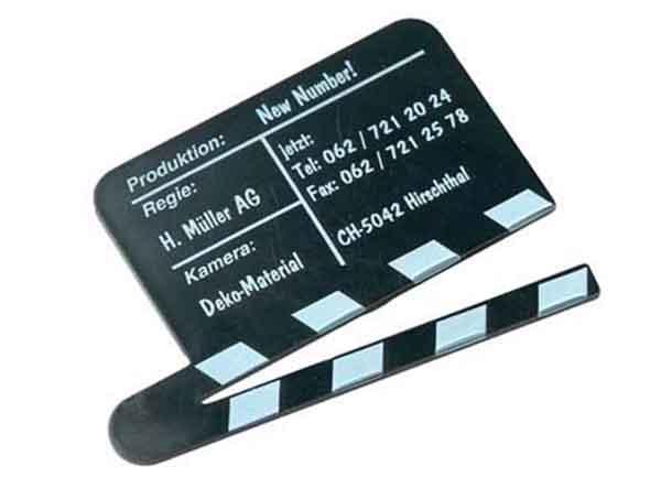Filmklappe als Werbemittel Sonderanfertigung