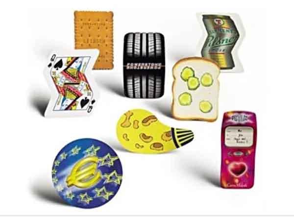 Spielkarten in Sonderformen