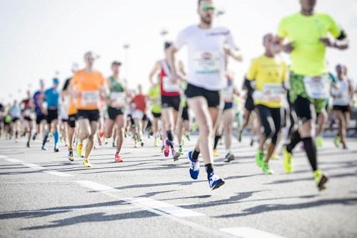 Werbemittel für den Firmenlauf: Streckenläufer