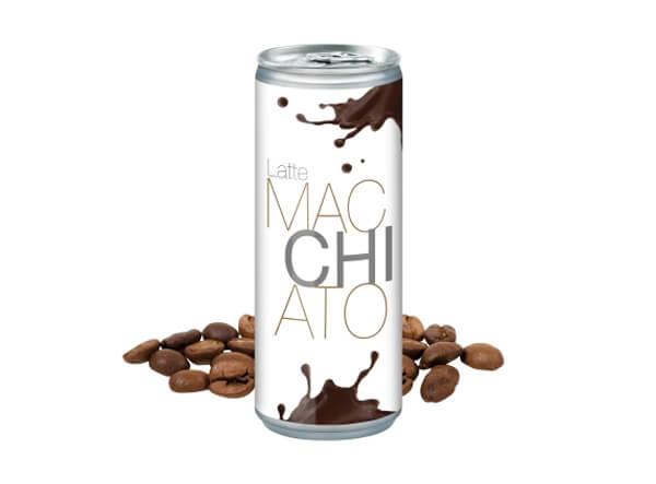 Latte Macchiato Dose mit Werbeanbringung